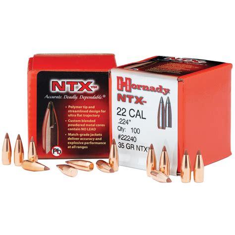Hornady NTX Bullets 22 Cal 224 35 Gr NTX 100 Ct Natchez