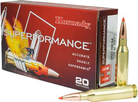 Hornady Superformance Ammo 260 Remington 129gr Sst 260 Remington 129gr Sst 20box
