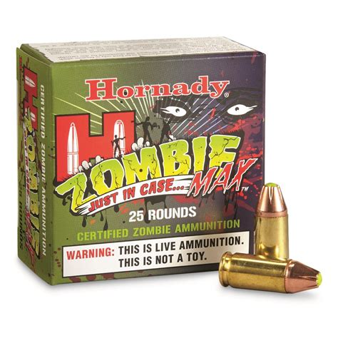 Hornady Zombie Max 9mm JHP 115 Grain 25 Rounds