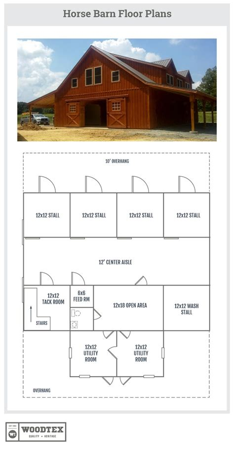horse barn floor plans with living quarters