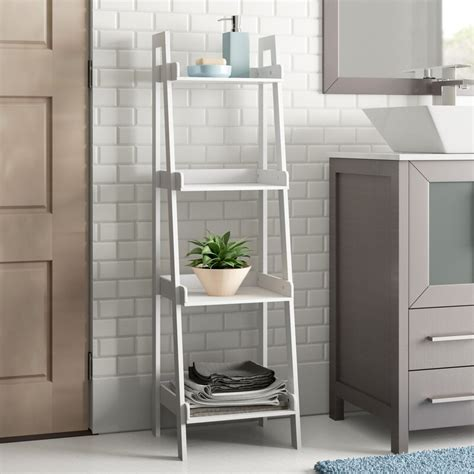 "Hoschton 13"" W x 44"" H Bathroom Shelf"