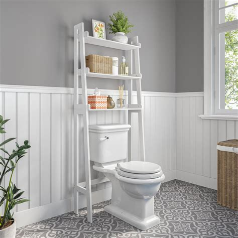 "Hoschton Ladder Spacesaver 24.9"" W x 61.5"" H Over the Toilet Storage"