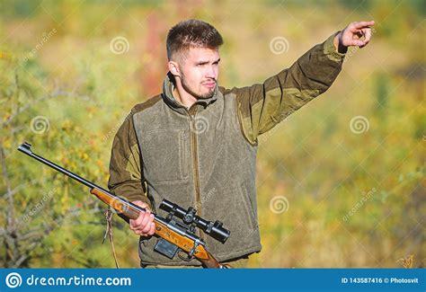 Hot Guy Hunting Shotgun