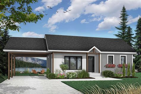 House plans with open carport Image