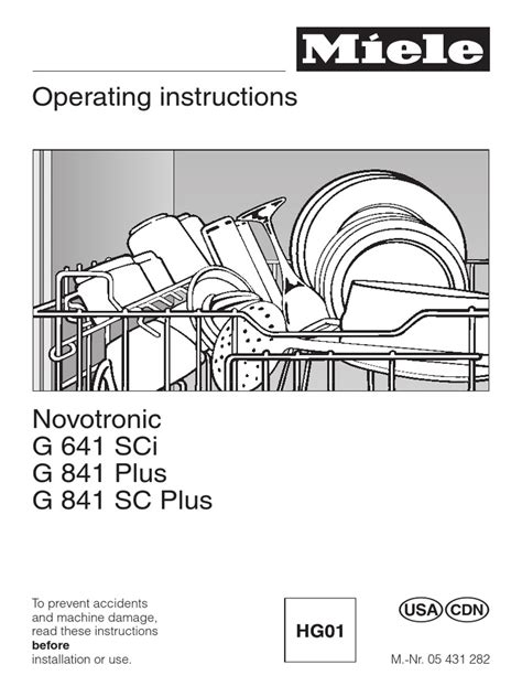 how to install a miele dishwasher pdf manual
