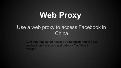 how to unblock facebook in china%0A