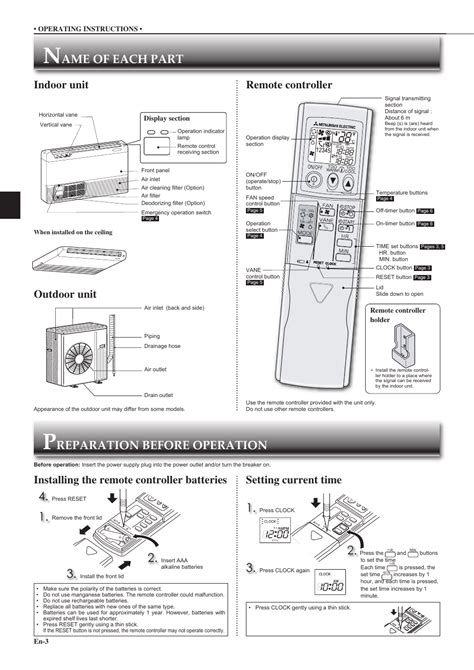 how to use mitsubishi electric remote pdf manual