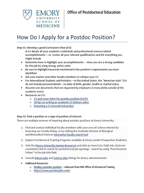 Sample Cover Letter For College Professor Position Postdoctoral
