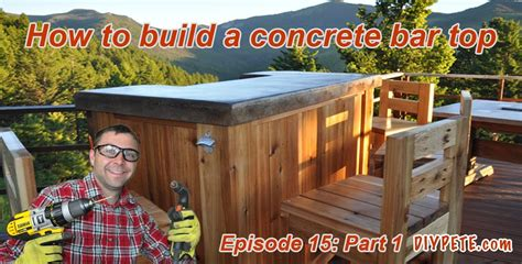 how to build a patio bar with a concrete counter top episode 15 part 1 Image