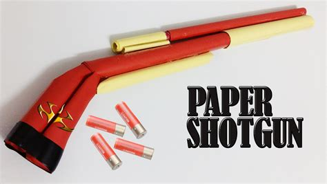 How To Draw A Shotgun On Paper