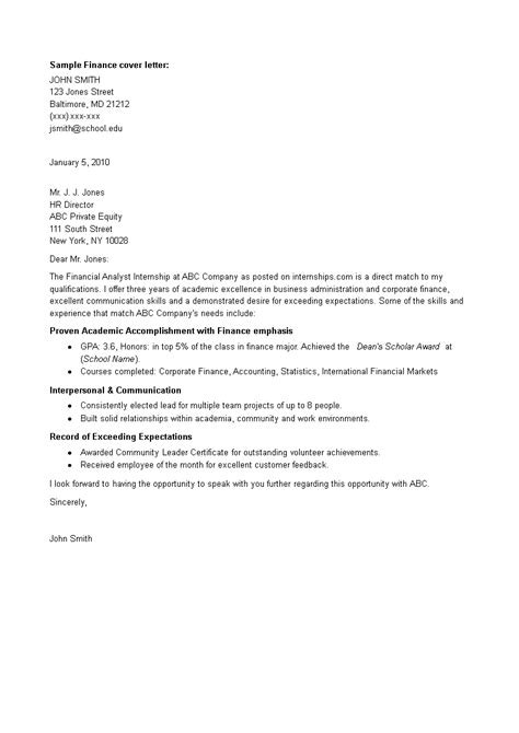 Finance Intern Cover Letter from tse1.mm.bing.net