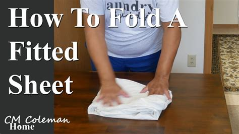 How To Fold A Fitted Sheet Youtube