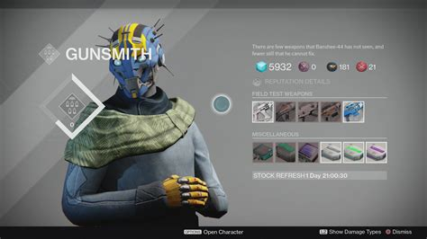 How To Get Gunsmith Reputation In Destiny