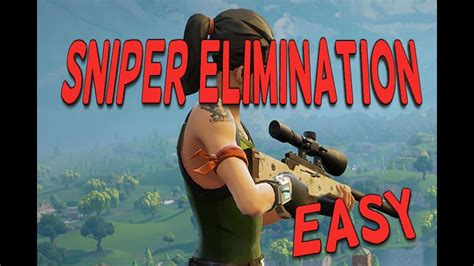 How To Get Sniper Rifle Eliminations In Fortnite