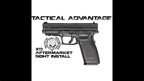 How To Install Sights On A Springfield Armory XD Advantage Tactical With Firefly Insert First Look