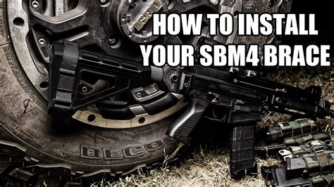 How To Install Your SB Tactical SBM4 Pistol Brace What Tube To Use