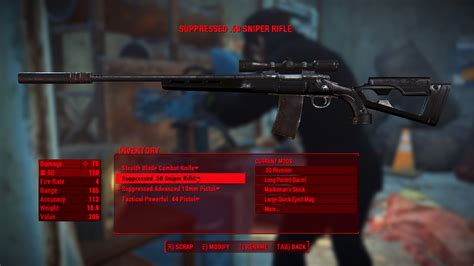 How To Make A Good Sniper Rifle Fo4 And Hunting Rifle Fortnite Sniper