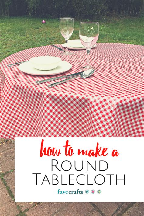 how to make a round tablecloth fabric Image