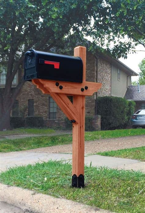 how to make a wooden mailbox post.aspx Image