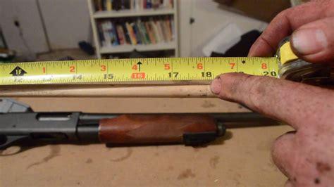 How To Measure A Pump Shotgun Barrel
