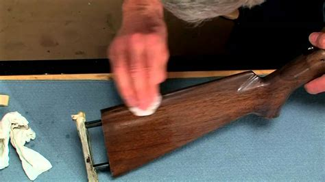 How To Refinish A Rifle Stock Video