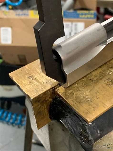 How To Remove A Staked Front Sight On A 1911