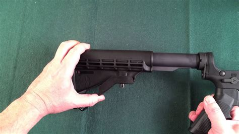 How To Remove Butt Stock Off Ar 15