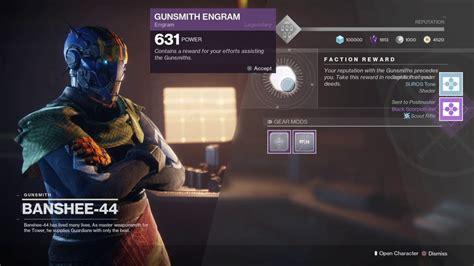 How To Upgrade Gunsmith Rank In Destiny