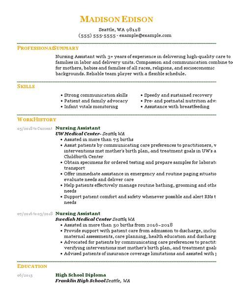 Cna Resume Templates Tutorials And Examples Cna Resume