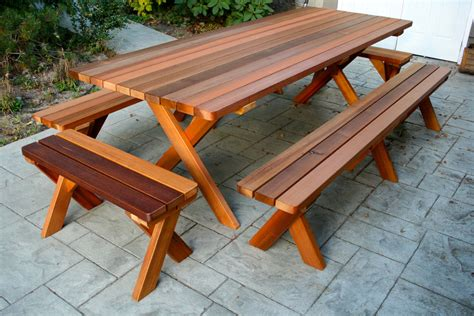 How big is a picnic table Image