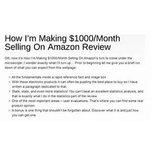 How i'm making $1000 month selling on amazon is bullshit?