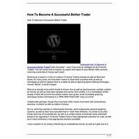 Cheap how to become a successful betfair trader