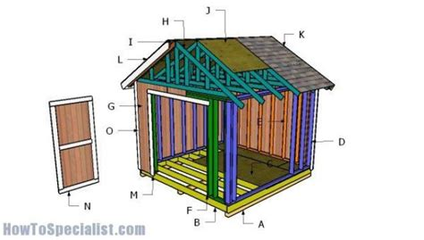 How to build a 10x10 shed step by step Image