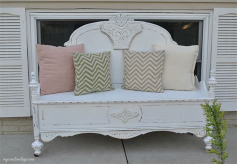 How to build a bench from a headboard Image
