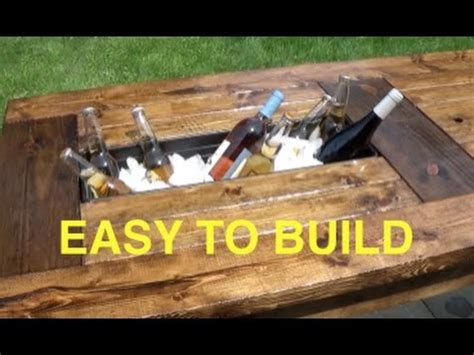 How to build a farmhouse table with built in coolers complete and easy plan Image