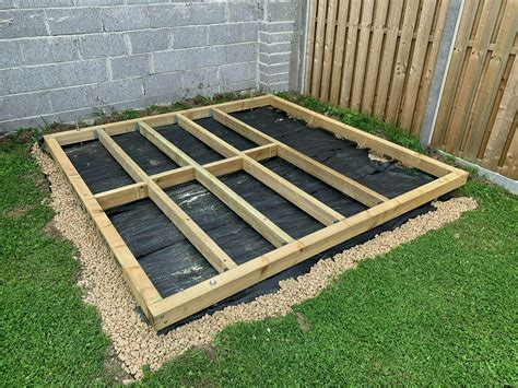 How to build a garden shed foundation Image