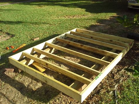 How to build a garden shed on skids Image