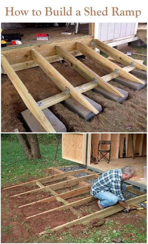 How to build a garden shed ramp Image