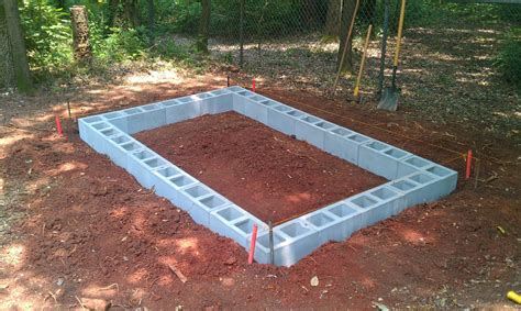 How to build a garden shed with concrete blocks Image