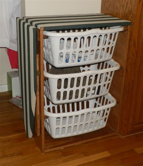 How to build a laundry basket dresser Image