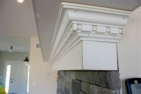 How to build a mantel with crown molding Image