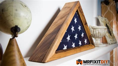 How to build a memorial flag display case Image