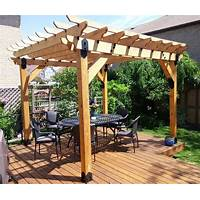 Free tutorial how to build a pergola