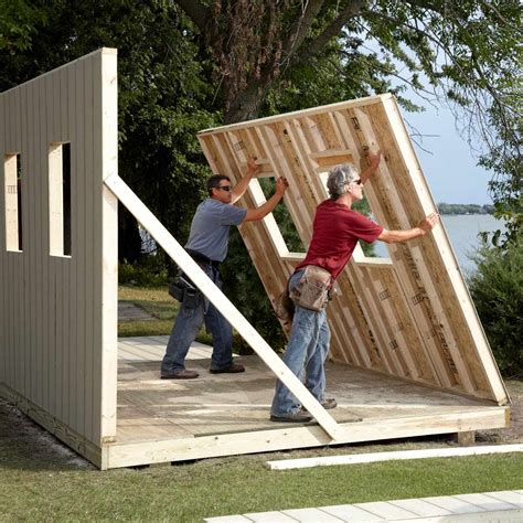 How to build a shed wall Image