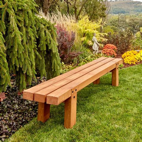 How to build a simple bench for outside Image