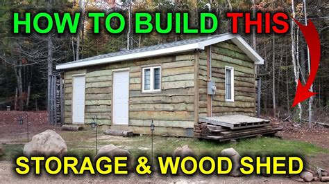 How to build a storage shed and wood shed building a cabin diy video 5 Image