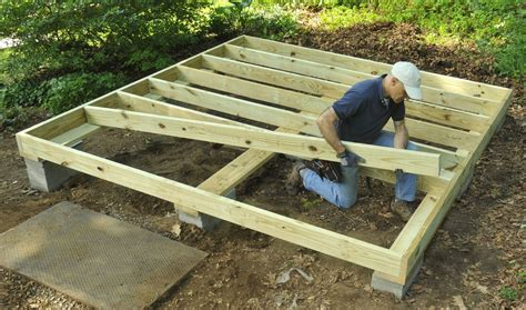 How to build a storage shed floor Image