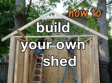 How to build a storage shed in 10 easy steps diy project Image