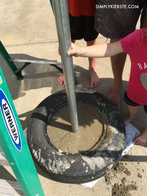 How to build a tetherball set Image