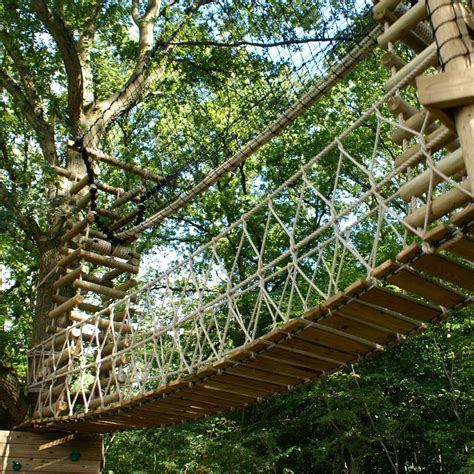 How to build a treehouse rope bridge Image